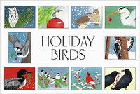 Crane Creek Holiday Cards Boxed-Holiday Birds Assortment