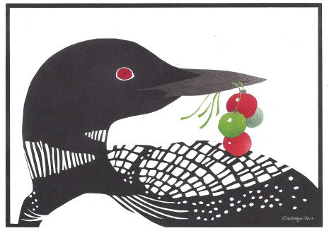 Crane Creek Holiday Cards Boxed-Winter Loon