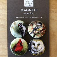 Magnet Sets by Art by Alyssa-Winter Birds