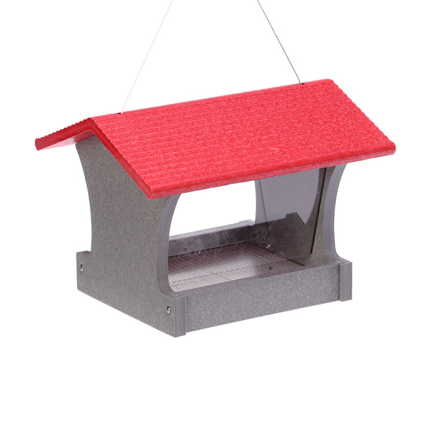 Medium Red Hopper Feeder
