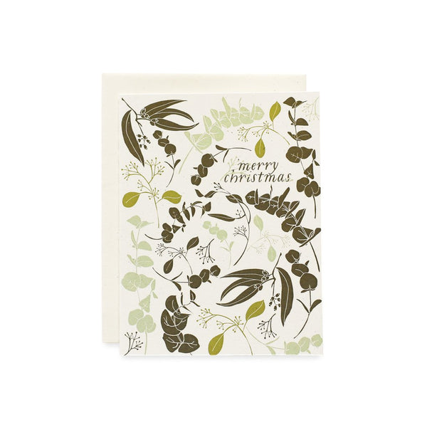 June & December Holiday Boxed Cards-Holiday Eucalyptus