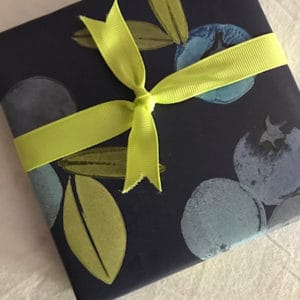 Pretty Flours Wrapping Paper - Blueberries