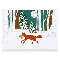 Molly-O Holiday Boxed Cards-Fox and Holly
