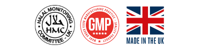 Vitamin Products Made in the UK, GMP Approved and HMC Halal Certified