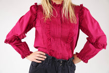 Eugenie Lace Frill Shirt - Pink Plump