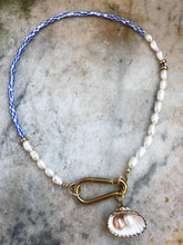 Gold Clasp Real Pearls And Shell Pendant Necklace