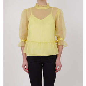 organza feminine romantic yellow blouse online fashion melbourne