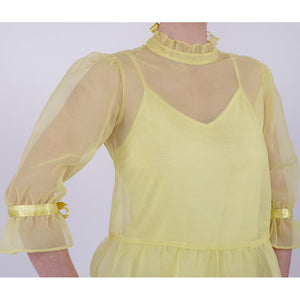 vintage organza feminine romantic yellow blouse online fashion melbourne