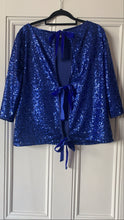 Royal blue sequin Top
