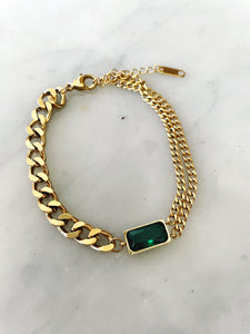 eyesonfloyd,green,stone,gold,accessories,melbourne,thin,thickchain