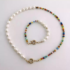 Real Pearl Necklace With Beads