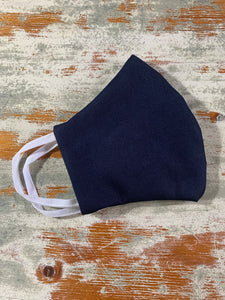 navy face mask, washable, 3 layers, melbourne