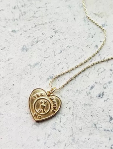 * PRE ORDER * 18k gold plated heart necklace