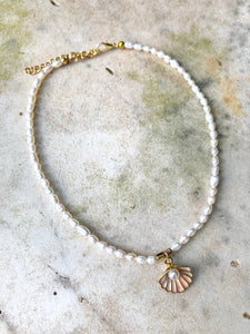 Fresh Water Pearl Charm Necklace