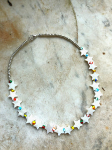 Mother Of Pearl Stars Necklace