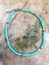 Skinny Mint Multicoloured Necklace