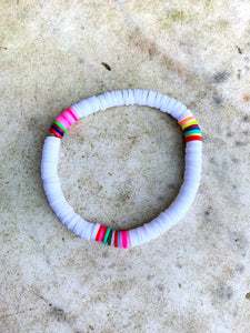White Multicoloured Bracelet