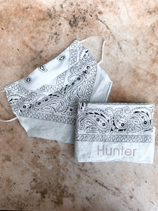 Personalised Embroidered Bandana Scarf