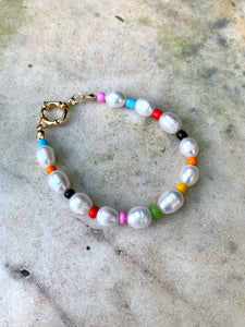 Real Pearl Bracelet With Beads