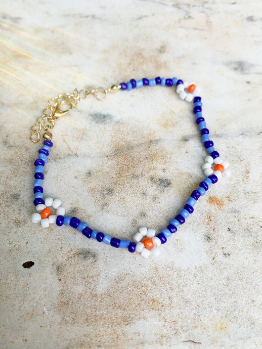 *Pre Order* Beaded Bracelet - Blue Multi