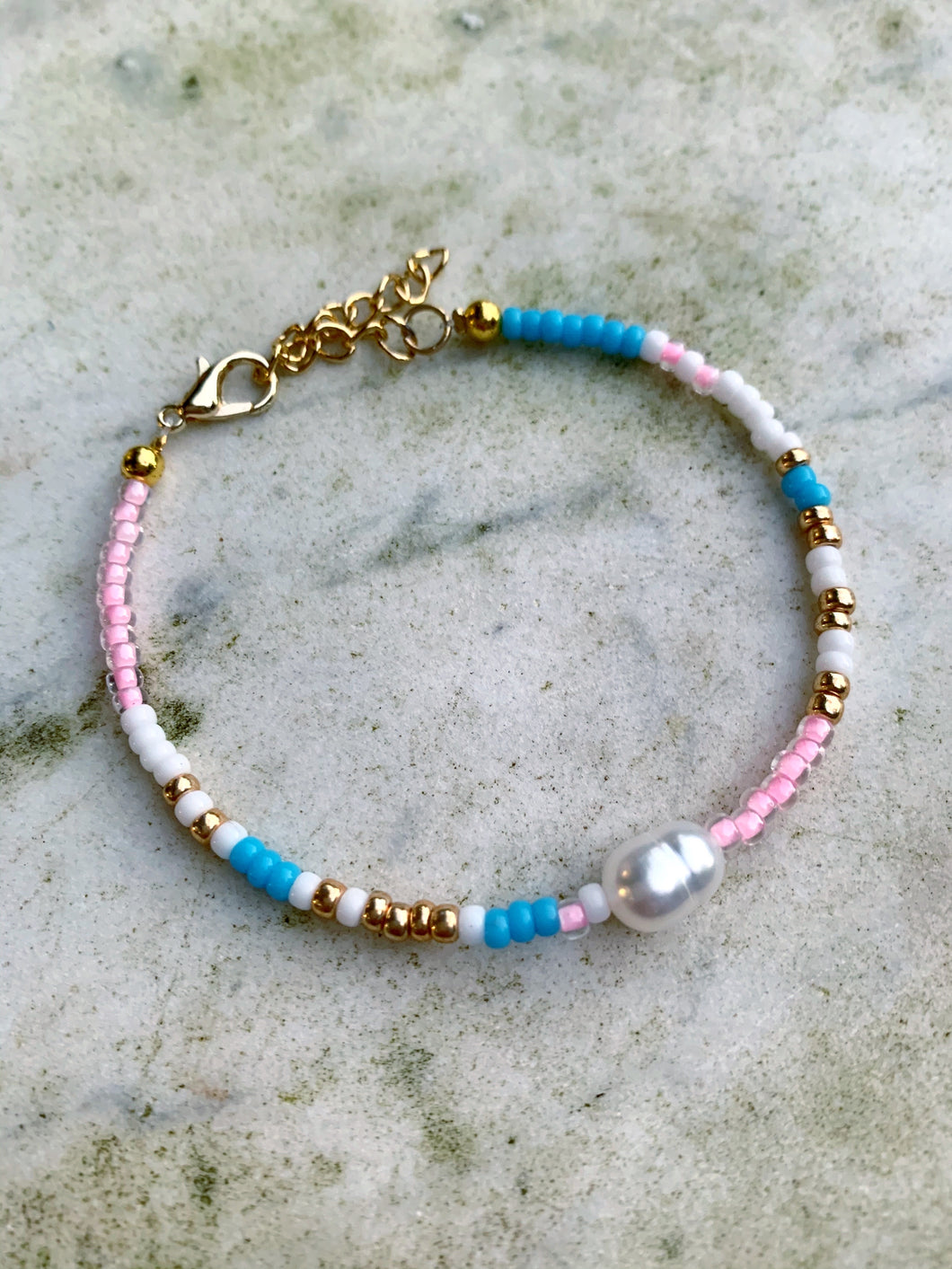 Real Pearl Beaded Bracelet