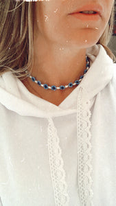 Choker Pearl and Beads Necklace