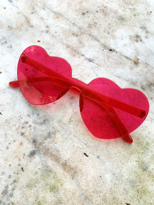 Heart Sunglasses - Pink