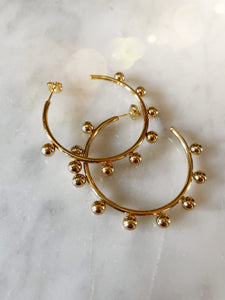 18k gold earrings, stainless steel, hoop round, accessories, melbourne
