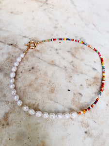 * Pre Order * Real Pearl Necklace With Beads