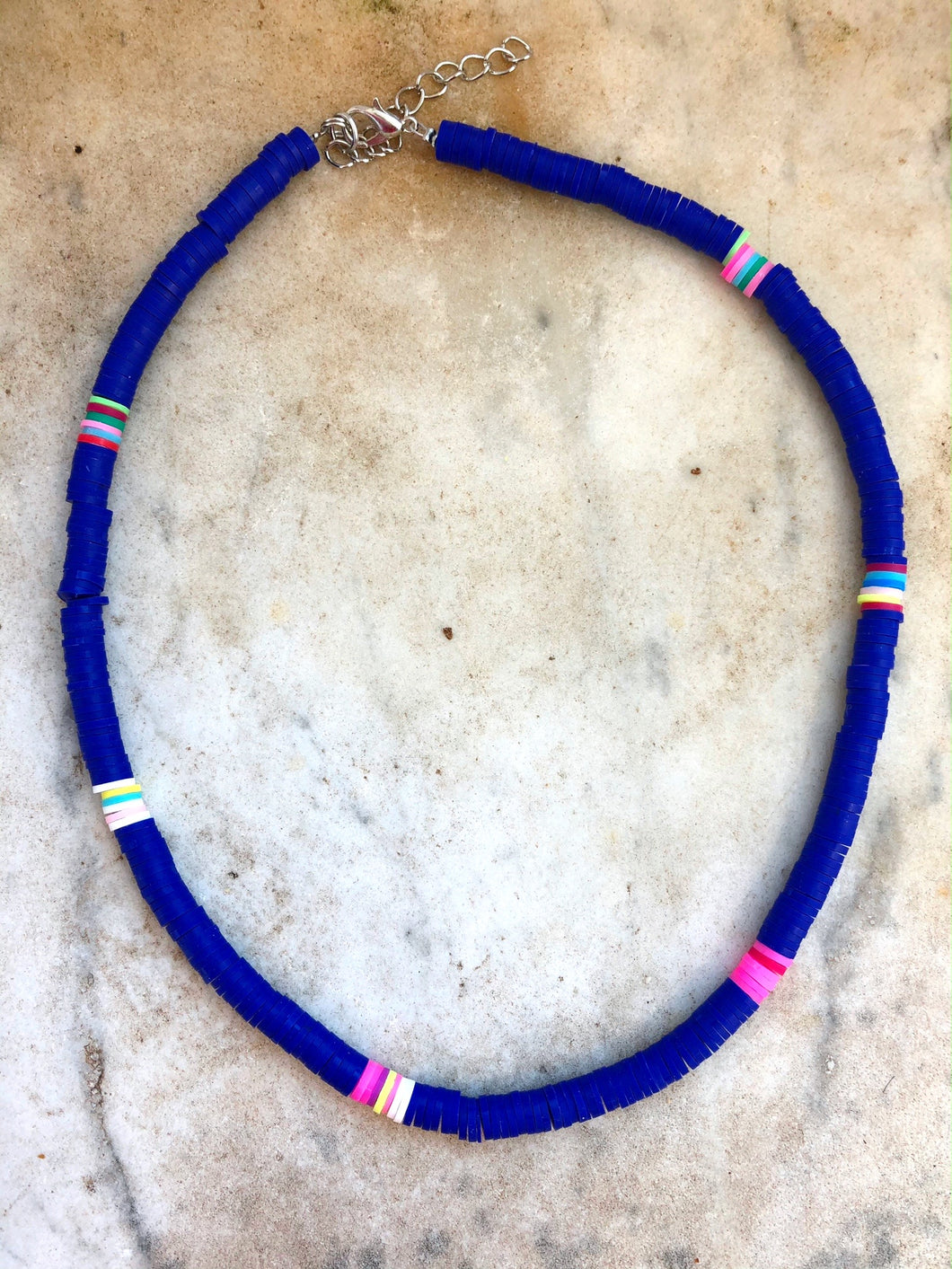 Blue Multicoloured Necklace