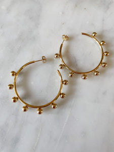 18k gold earrings, stainless steel, hoop round, accessories, melbourne, free shipping