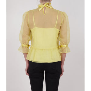 organza feminine romantic yellow blouse online fashion melbourne buy