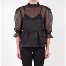 organza black top blouse ribbon, fashion, online, melbourne, vintage