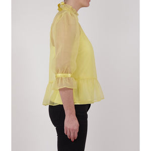organza feminine romantic yellow blouse online fashion melbourne shop
