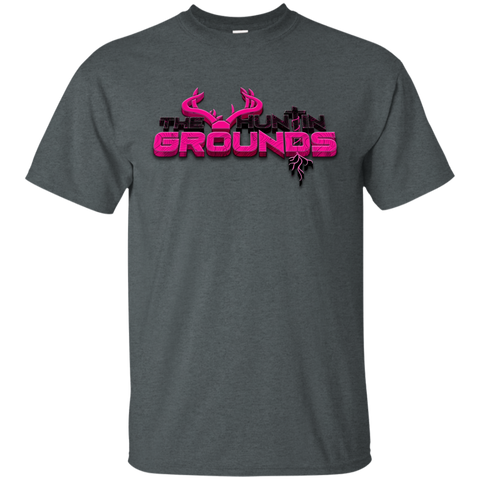 THG Adult T-Shirt The Huntin Grounds Logo - Pink