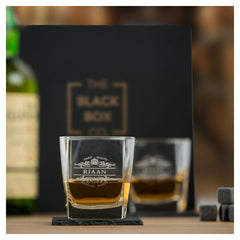 2 Personalized Whiskey Glasses