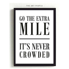 GO THE EXTRA MILE FRAME