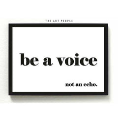 BE A VOICE FRAME