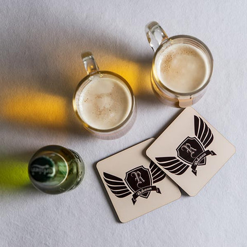 2 Personalized MDF Coasters