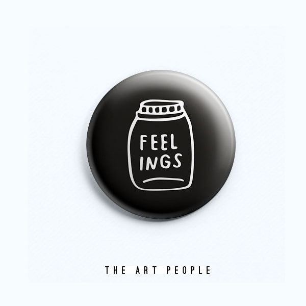 Feelings in a jar Badge