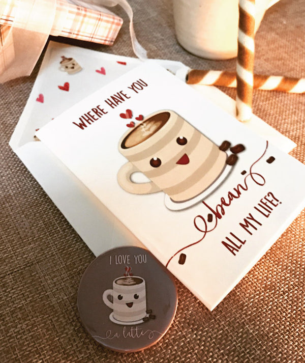 Coffee Bean Love Card