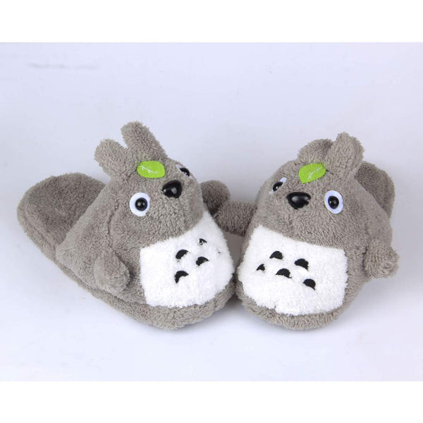 Totoro Furry Plush Slippers