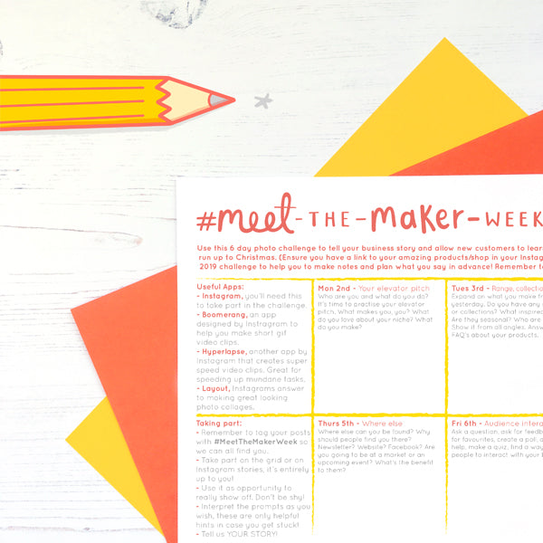 #MeetTheMakerWeek Prompts, Free Planner and Helpful Hints