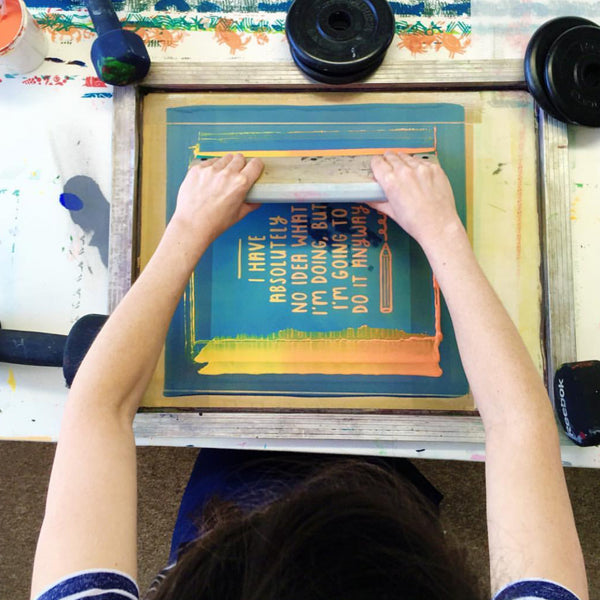 Joanne Hawker 2018 - Learning to screen print