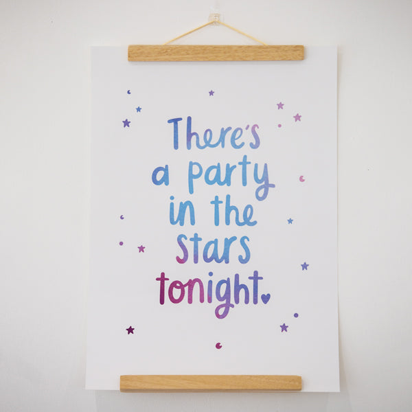 There's a party in the stars tonight poster