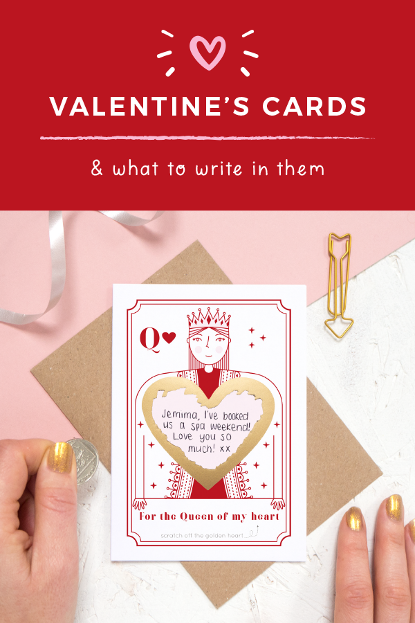 What to write in a valentine's card by Joanne Hawker