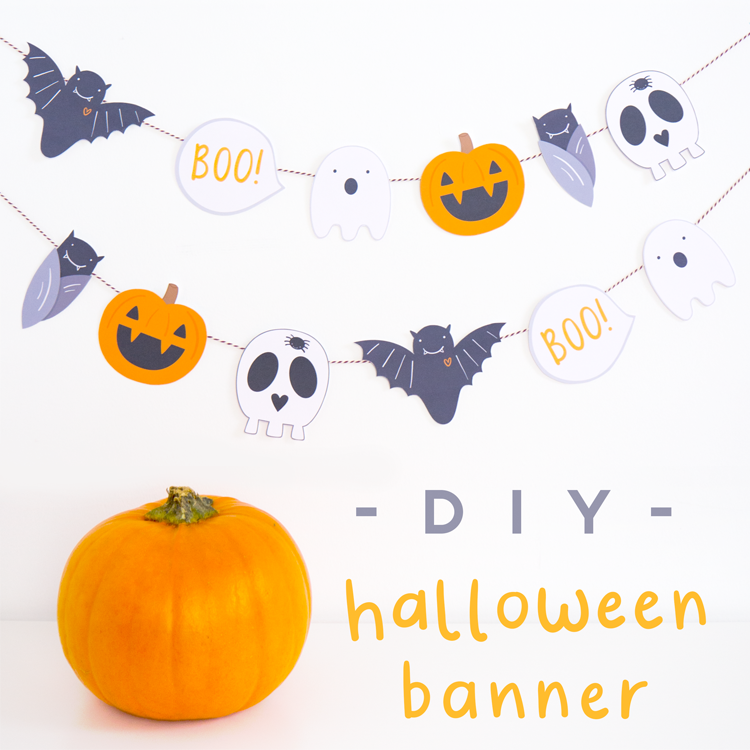 Make your own halloween banner