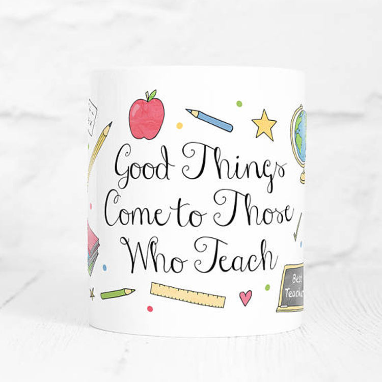 Teacher Quote mug by Jillyjillydesign