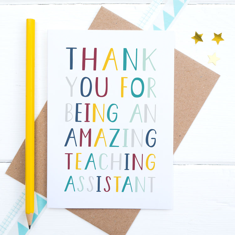 Teaching assistant card by joanne hawker