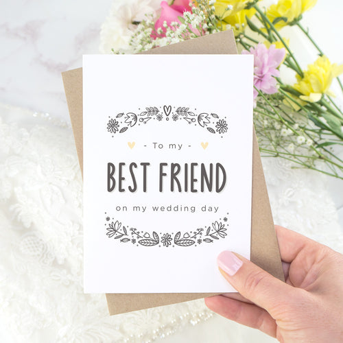 To My Best Friend Wedding Day Card